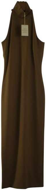 Torn by Ronny Kobo Olive Theodora High Neck Midi Small Maxi Mid-length Short Casual Dress Size 4 (S) Torn by Ronny Kobo Olive Theodora High Neck Midi Small Maxi Mid-length Short Casual Dress Size 4 (S) Image 2