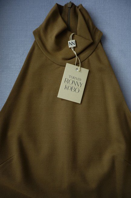 Torn by Ronny Kobo Olive Theodora High Neck Midi Small Maxi Mid-length Short Casual Dress Size 4 (S) Torn by Ronny Kobo Olive Theodora High Neck Midi Small Maxi Mid-length Short Casual Dress Size 4 (S) Image 4