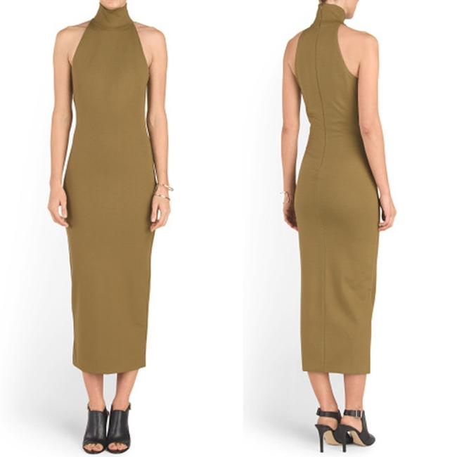 Torn by Ronny Kobo Olive Theodora High Neck Midi Small Maxi Mid-length Short Casual Dress Size 4 (S) Torn by Ronny Kobo Olive Theodora High Neck Midi Small Maxi Mid-length Short Casual Dress Size 4 (S) Image 6