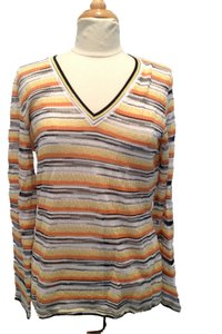 M Missoni Striped Metallic Sweater