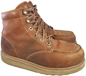 Timberland Work And Safety Man Man Size 9.5w Steel Toe brown Boots