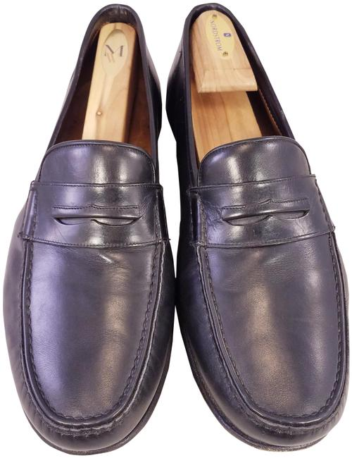 Item - Black Addison Man Penny Loafers Leather Ee Formal Shoes Size US 9 Extra Wide (Ww, Ee)