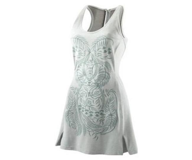 Item - Gray Embroidered Dress Activewear Sportswear Size 10 (M, 31)