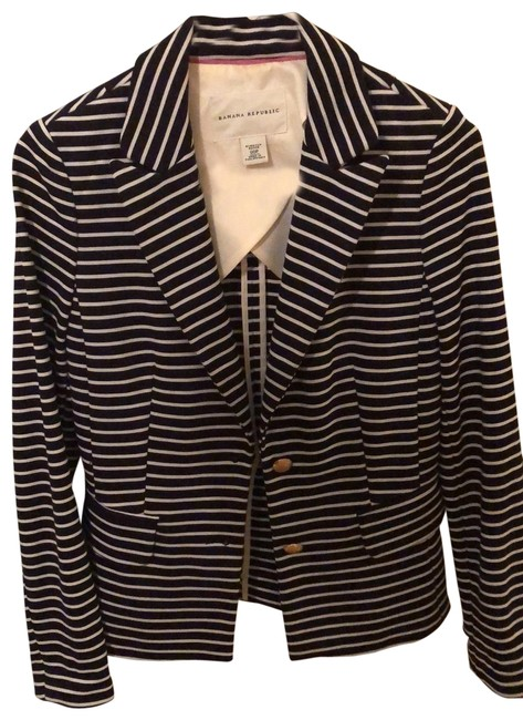 Item - Dark Navy and White Nautical Blazer Size Petite 0 (XXS)