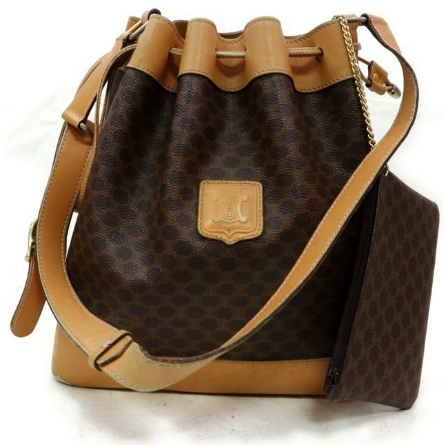 Item - Macadam Bucket Hobo 872287 Monogram Drawstring with Pouch Brown Coated Canvas Shoulder Bag