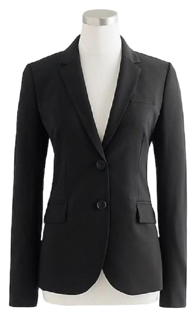 Item - Black Stretch Wool Blazer Size 2 (XS)