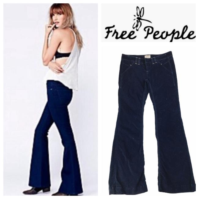 Item - Blue Navy Velvet Low Rise Fit Pants Size 2 (XS, 26)