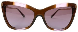 Michael Kors Michael Kors Women MK2027 AUDRINA III 31738H Brown Metal Cat Eye Sunglasses