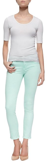 J Brand Mint Green 485 Mid Rise Skinny Jeans Size 0 (XS, 25) J Brand Mint Green 485 Mid Rise Skinny Jeans Size 0 (XS, 25) Image 1