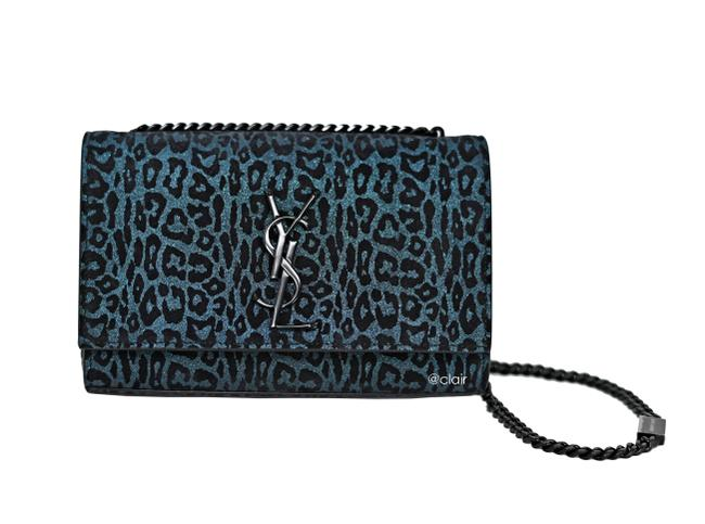Item - Monogram Kate Small Metallic Leopard-print Black Multi Suede Leather Cross Body Bag