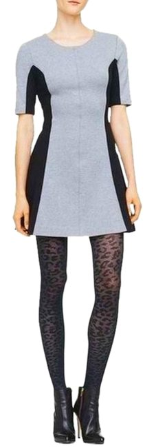 Item - Gray Scuba Theresa Knit Colorblock Fit and Flare Skater 0 Short Work/Office Dress Size 0 (XS)