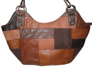 The Sak Leather Patchwork Shoulder Onm002 Hobo Bag