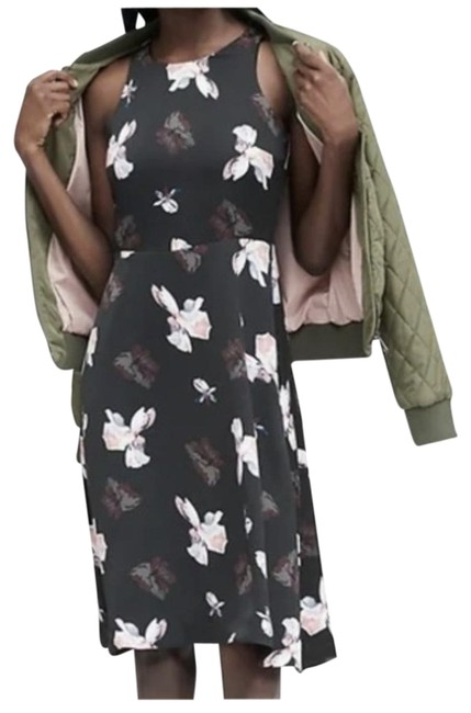 Item - Black Floral Short Night Out Dress Size 2 (XS)