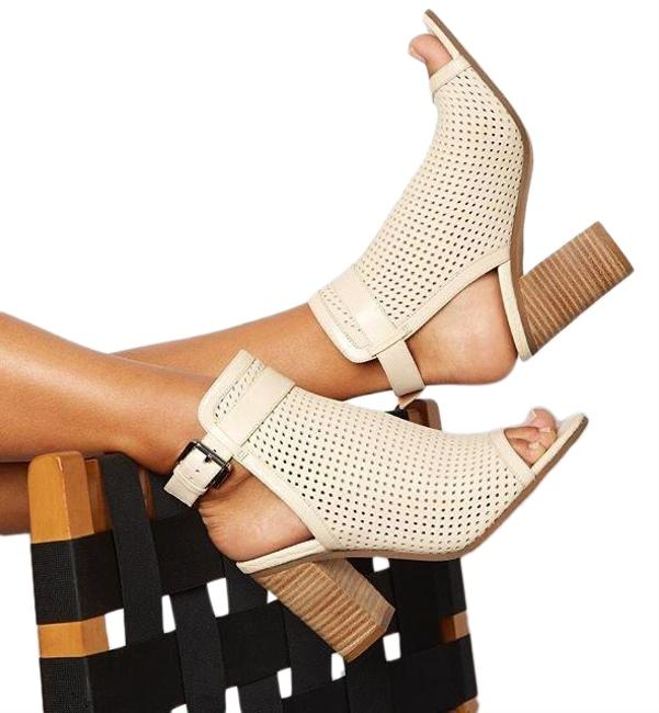 Item - Summer Sand Leather 'emmie' Open Toe Boots/Booties Size US 8.5 Regular (M, B)