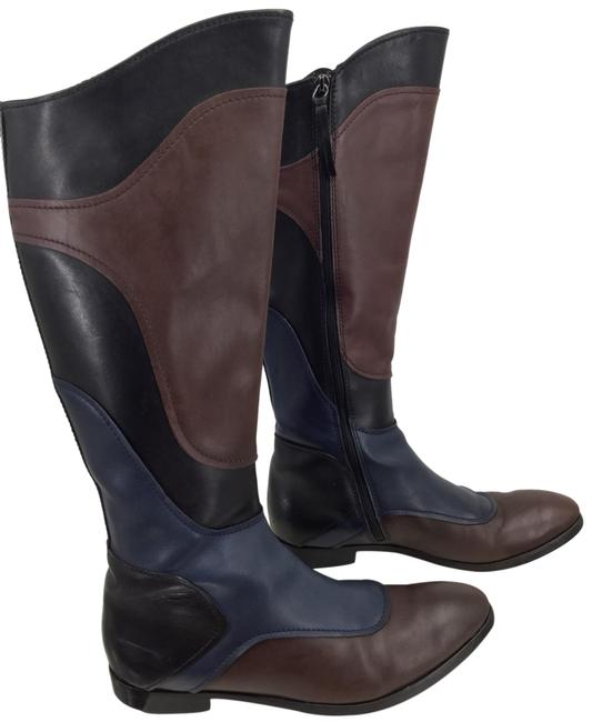 Item - Multicolor Patchwork Leather Riding Boots/Booties Size EU 38.5 (Approx. US 8.5) Regular (M, B)