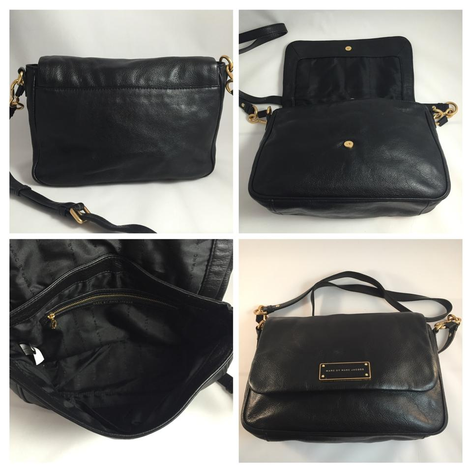 634ffbe2ae20 Marc by Marc Jacobs Too Hot To Handle Lea Black Leather Cross Body Bag -  Tradesy