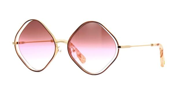 Item - Pink Gradient Gold Havana Poppie Sunglasses