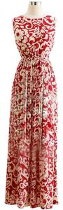 Red White Maxi Dress by other