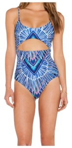 Mara Hoffman Maillot Rising Palm Front Cut Out One Piece
