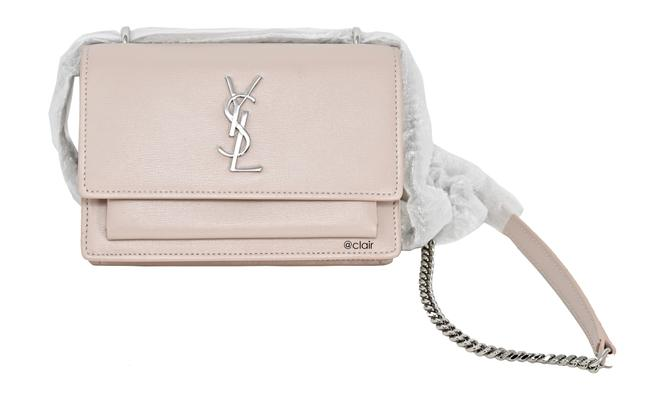 Item - Monogram Sunset Small Light Washed Pink Leather Cross Body Bag