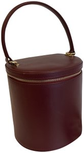 STAUD Bucket Leather Red Cross Body Bag