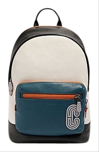 Item - West Men's In Colorblock with Reflective Patch Multicolor Leather Backpack