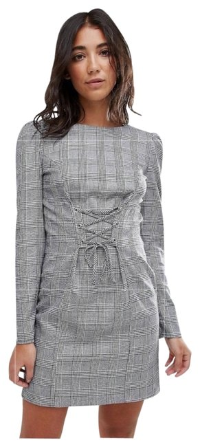 Item - Checkered Corset Short Casual Dress Size 8 (M)
