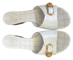 Chanel Casual Summer Sandal White Platforms
