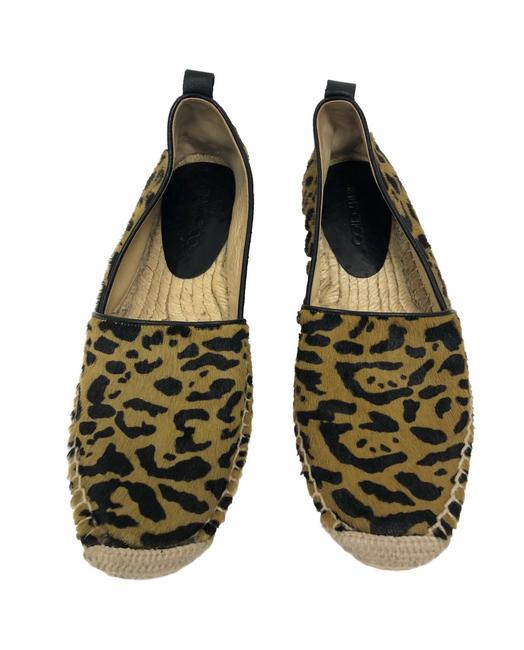 Item - Brown/Black Gaine Leopard Pony Hair Espadrille Flats Size EU 35 (Approx. US 5) Regular (M, B)