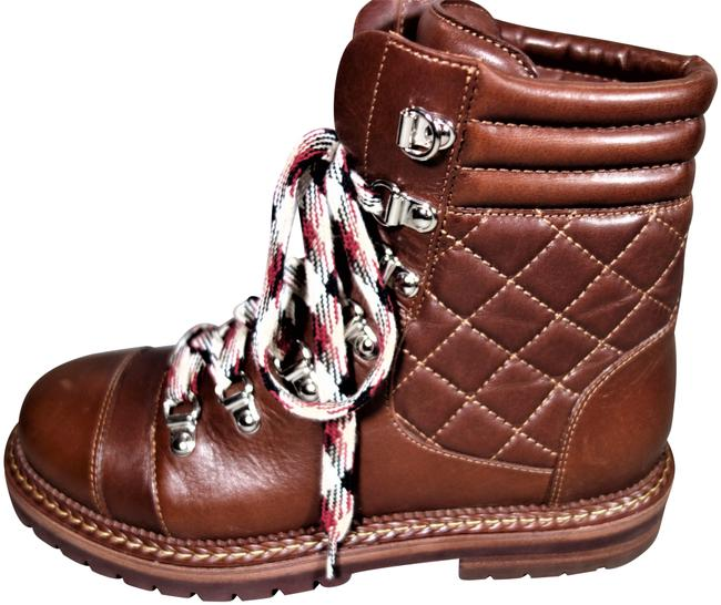 Item - Burgundy Brown Quilted Smooth Leather Cc Lace Up Ankle Biker New Boots/Booties Size EU 36 (Approx. US 6) Regular (M, B)