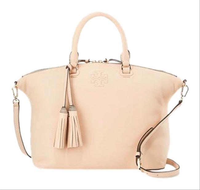 Item - Thea Medium Slouchy Pebbled Apricot Pink Leather Satchel
