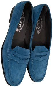 Tod's Loafers Blue Flats