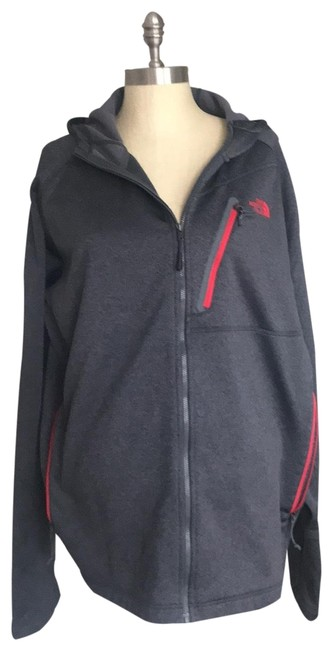 Item - Gray Zipper Front with Hood Jacket Size 14 (L)