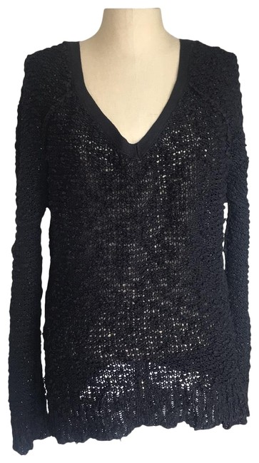 Item - Loose Knit Slouchy Black Sweater