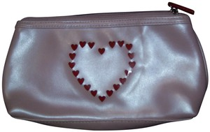 Unknown Pink & Red Cut Out Hearts Zippered Cosmetic Pouch Travel Bag