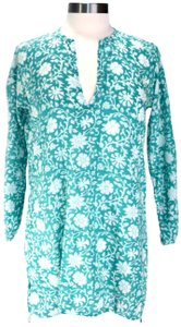 roberta Kurta Floral Boho Cover Up Tunic