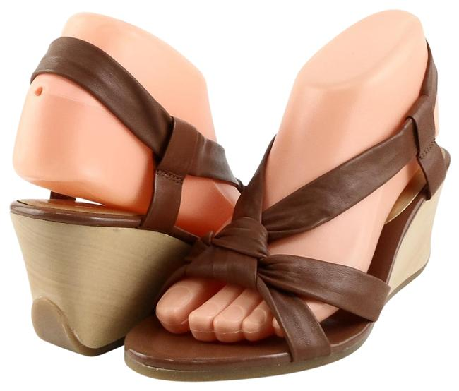 Item - Polo Tan Jacqueline Leather Wedge Sandals Size US 10 Regular (M, B)
