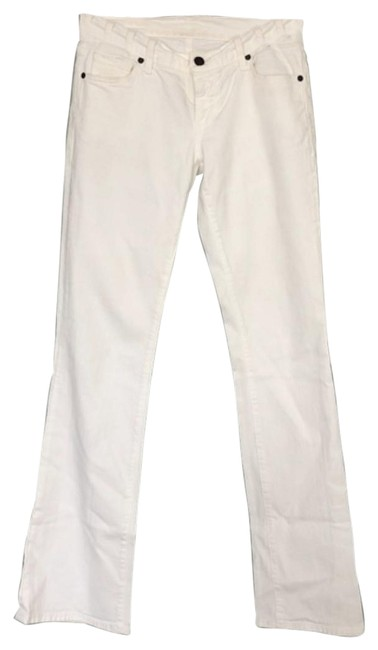 Item - White Kelly Low Waist Boot Cut Jeans Size 27 (4, S)