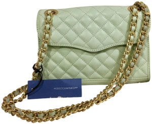 Rebecca Minkoff Quilted Leather Gold Cross Body Bag