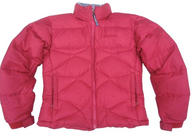 Item - Red Goose Down Puffer Jacket Cranberry Diamond Channel Quilting Coat Size 4 (S)