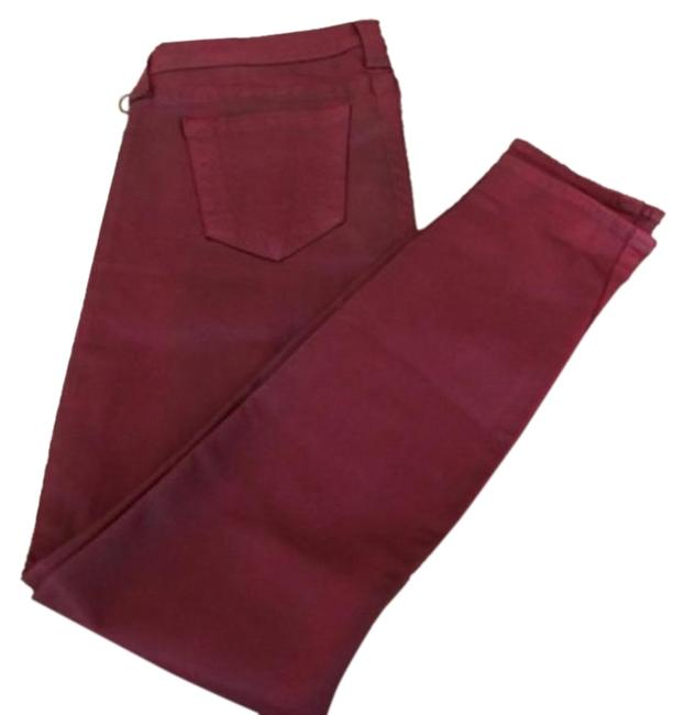 Item - Maroon Coated Skinny Jeans Size 32 (8, M)