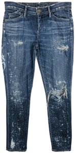 Goldsign Distressed Splotched Splatter Skinny Jeans
