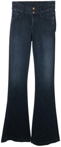Goldsign Sissi Bell Flare Trouser/Wide Leg Jeans-Dark Rinse