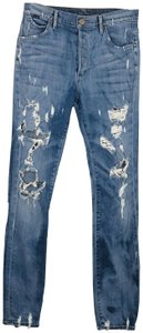 Goldsign Stevie Distress Diestroyed Mottled Wash Boyfriend Cut Jeans