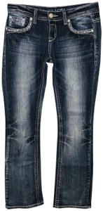 Grace in LA Embellished Dark Wash Boot Cut Jeans-Dark Rinse
