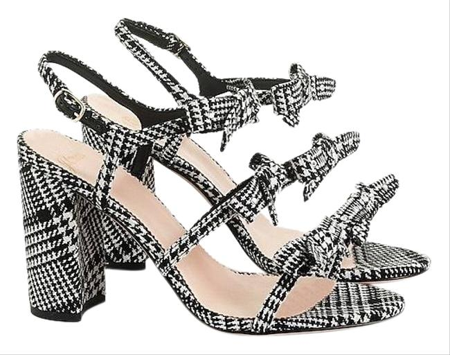 Item - Black Stella Sparkle Bow Heels Glen Plaid Black/White Sandals Size US 12 Regular (M, B)