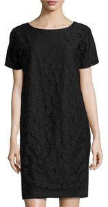 Lafayette 148 New York short dress Black Shift Applique on Tradesy