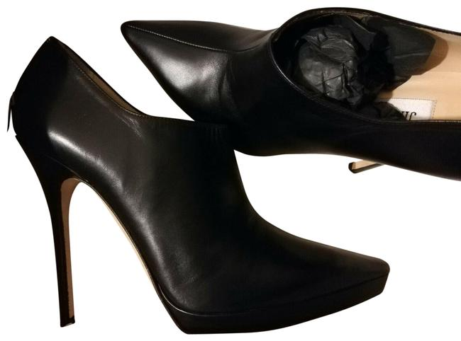 """Item - Black 8.5 9 """"George"""" Leather Pointy-toed Ankle Kim Kardashian Boots/Booties Size EU 40 (Approx. US 10) Narrow (Aa, N)"""