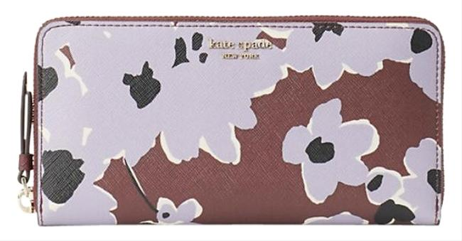 Item - Brown/Purple Cameron Wildflower Bouquet Large Continental Wallet