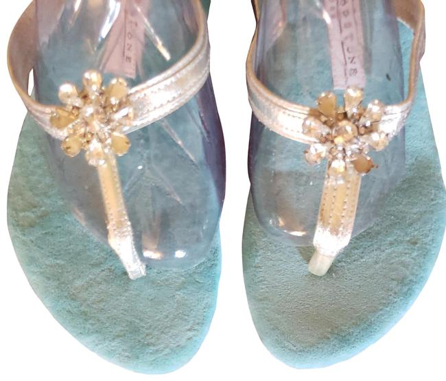Item - Tiffany Blue and Silver Turquoise Sandals Size US 9 Regular (M, B)
